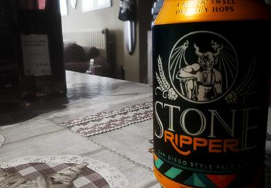 Tasting Stone Ripper beer