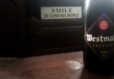 Tasting Trappist Westmalle Beer 'Dubbel'.