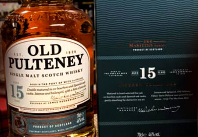 Tasting Old Pulteney 15-year-old single malt whisky.