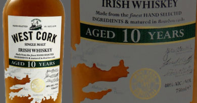 Tasting West Cork 10 year old Irish Single Malt Whiskey